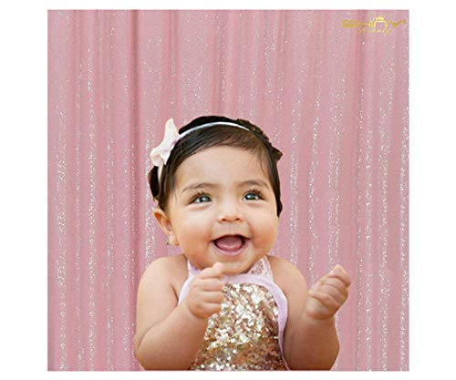 ShinyBeauty PHOTOBOOTH Background Best Choice-4FTx7FT-Pink-Sequin backdrops, Sequin Fabric,Wedding backdrops,Rust Backdrop,Sequin Curtains,Photography Backdrop (Buy it Now) (Pink)
