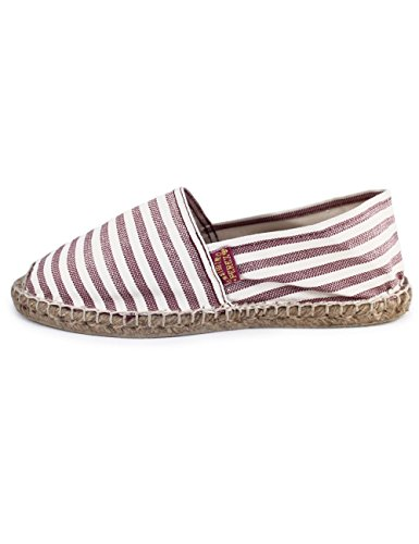 Bel Casimiro Righe Granata Rigato Espadrilles Fantasia Bianco con a Linea Air Perez 47aqnw7AS