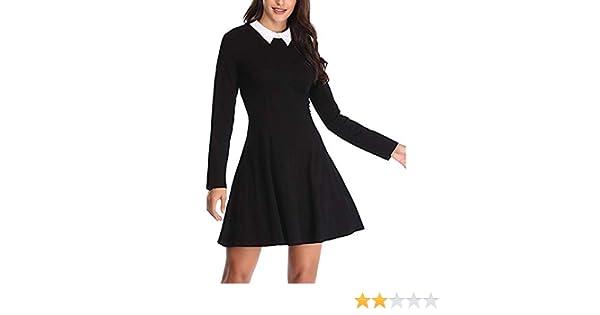 Vestido de Mujer, Dragon868 Mujeres Adolescentes Manga Larga Cuello Casual Flare Skater Mini Vestido: Amazon.es: Juguetes y juegos