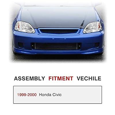 AUTOSAVER88 Headlight Assembly Compatible with 1999 2000 Honda Civic Chrome Housing Headlamp 33151-S01-A02 33101-S01-A02: Automotive