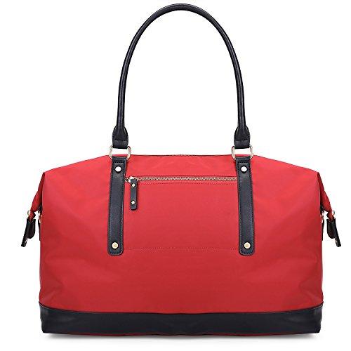 ECOSUSI Duffel Bag Weekender Overnight Bag Large Travel Tote Shoulder Bag for Men & Women, - Boston Shopping Airport