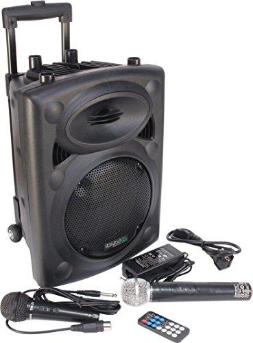 Ibiza Sound PORT8VHF-BT Sistema de sonido portátil y autónomo de 8″/20 cm, Bluetooth, Wireless, potencia maxima 400 W, Negro