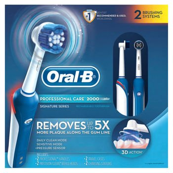 Oral-B Pro Care 2000 Dual Handle Rechargeable Electric Toothbrush