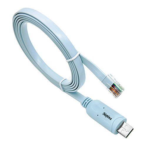 USB Console Cable USB to RJ45 Cable Essential Accesory of Cisco, NETGEAR, Ubiquity, LINKSYS, TP-Link Routers/Switches for Laptops in Windows, Mac, Linux ()