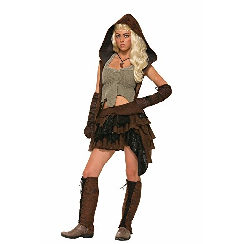 Forum Novelties Women's Medieval Fantasy Rogue Female Warrior Costume, Multi, One Size