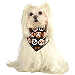 Rubie's Costume Co Glitter Halloween Pet Bandana, Small/Medium