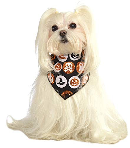 Rubie's 886561 Glitter Halloween Pet Bandana, Medium/Large, Multicolor (Pack of 12)]()
