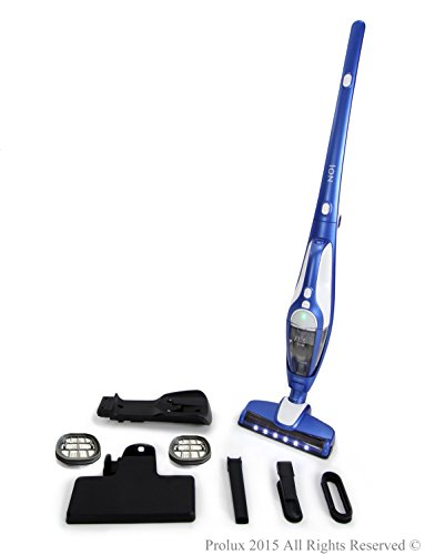 Prolux Ion Battery Powered Bagless Cordless Stick Vac w/ 2 Extra Filters (Vac Unit Vacuum Tank Power)