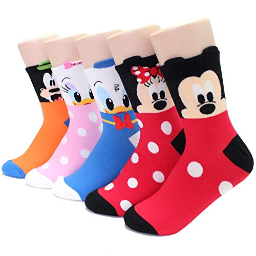 EVEI Animation Character Cartoon Series Collection Women's Original Socks (D01_5 pairs)]()
