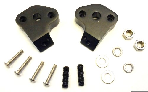 (Shorty Turn Signal Relocation Kit for Harley Davidson Softail - Black)
