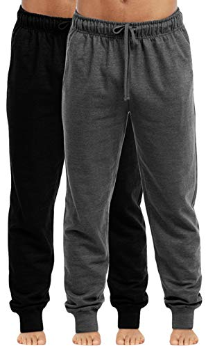 Unique Styles Mens PJ Bottoms Lounge Pajama Pants Knit Sleep with Pockets (X-Large, 2PK: Combo 4)