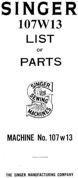 Descargar Pdf-File Pfaff Singer 107U202 Manual de usuario máquina ...