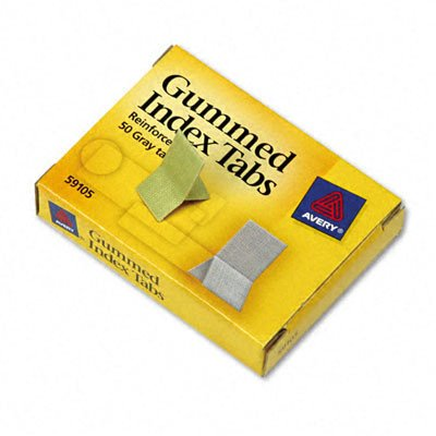 Cloth Reinforced Gummed Index Tabs - Gummed Index Tabs [Set of 3] Color: Grey, Tab Size: 0.81