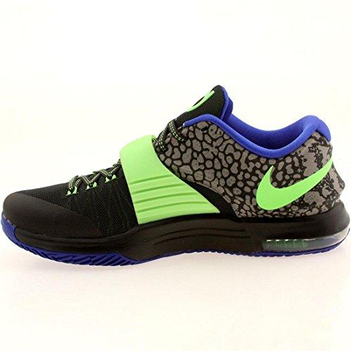 Nike Mens Kd Vii Scarpe Da Basket Thunderbolt Nero / Mtlc Pwtr / Flsh