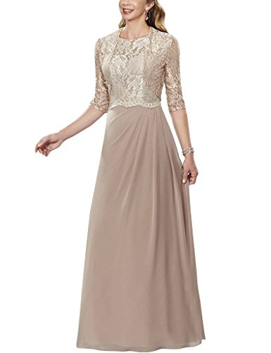 H.S.D Half Sleeves Lace Chiffon Mother Of The Bride Dresses Prom Formal Gowns