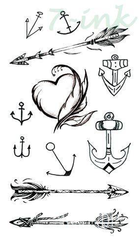 5pcs Tatuaje Impermeable Etiqueta Flecha de Oro Diamante Tatto del ...