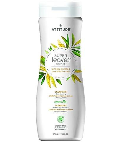 Attitude Natural Shampoo - Clarifying, White Tea and Lemon Leaves, 16 Fluid Ounce