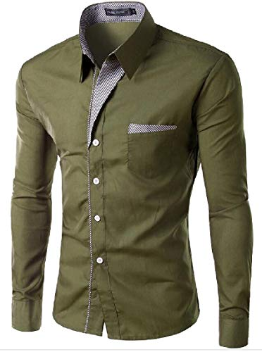 Mens Short Button Fit Shirt Luxury Dress Slim Top Sleeve Maweisong Lapel 2 Casual Business Fx0wqRdpnp