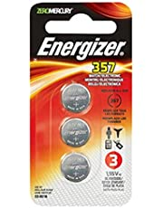 Energizer 357 Zero Mercury Watch/Electronic Battery, 3-Pack