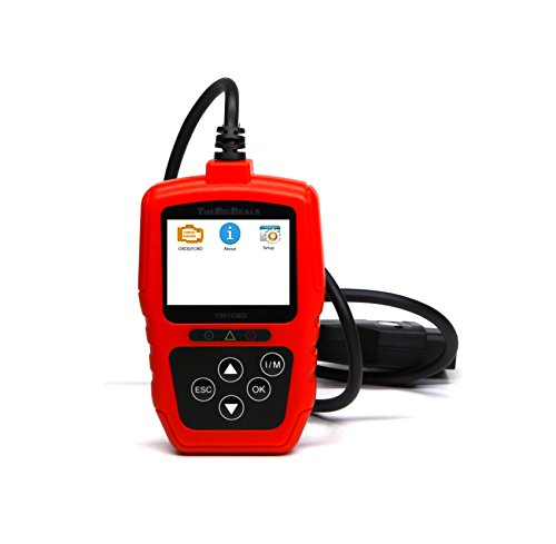 CAN OBD2 EOBD Code Reader Scanner Red / Black Scan Tool for Check Engine Light Trouble Code Diagnostic on Car, Pickup, SUV, Truck and Van (Toyota Scan Tool)