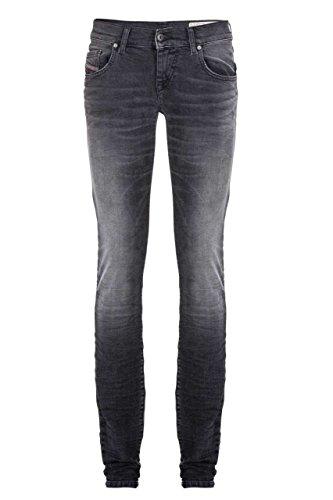 (Diesel Women's Grupee 0676N Slim Skinny Jeans (Black, 27W x 32L))