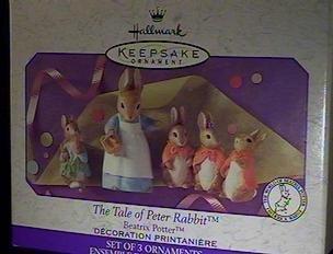 bbit By Beatrix Potter Set of three ornaments 1999 Hallmark Keepsake Ornament QEO8397 (1999 Rabbit)