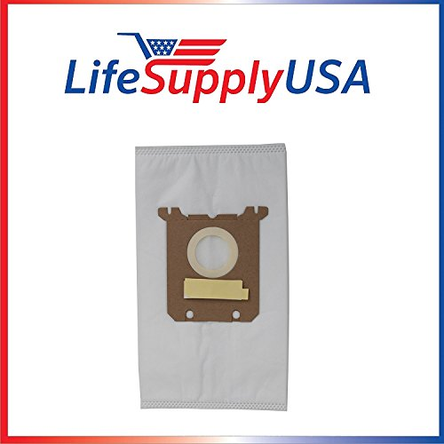 - 50 Packs of 5 (250 count) Vacuum Bags for Nilfisk Kent Advance Euroclean Hip Vac fits 1407015040 140655405 by LifeSupplyUSA