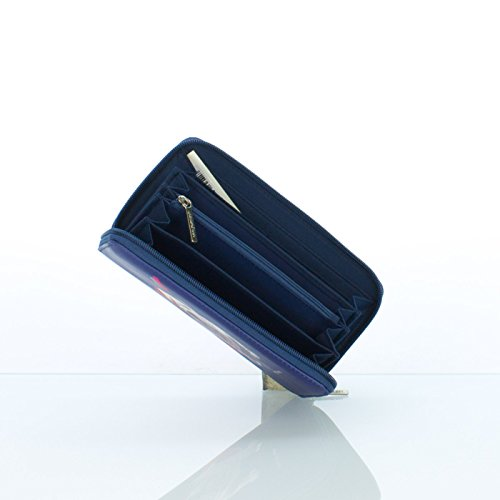 Portafoglio Donna Teo Jasmin - Continental Wallet - 20x10,5x2 cm (Stardust Navy)