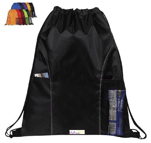 Urfunbag Dual Pocket Drawstring Nylon Backpack