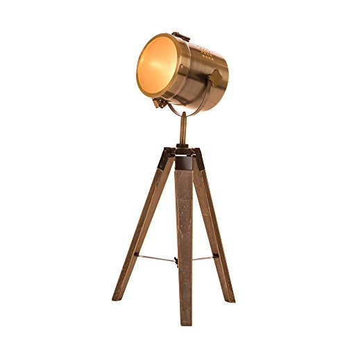 Glitzhome 23.62''H Spotlight Novelty Table Lamp-Farmhouse Marine Design with Metal Shade, All Direction Beam Angle, Used as Floor Lamp,Soft Ambient Lighting Perfect for Living Room,Office - Guest Room Lamp