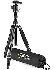National Geographic Foto-reisstatiefset met monopod, aluminium, vijfdelige poten met draaislot, draagtas, kogelkop, snelwisselplaat, tot 8 kg NGTR002T [exclusief bij Amazon]