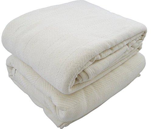 Organic Cotton Herringbone Natural Blanket (King 110