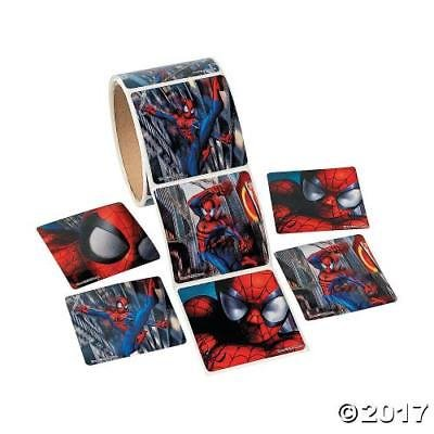 1 roll of 100 ct Spiderman Stickers