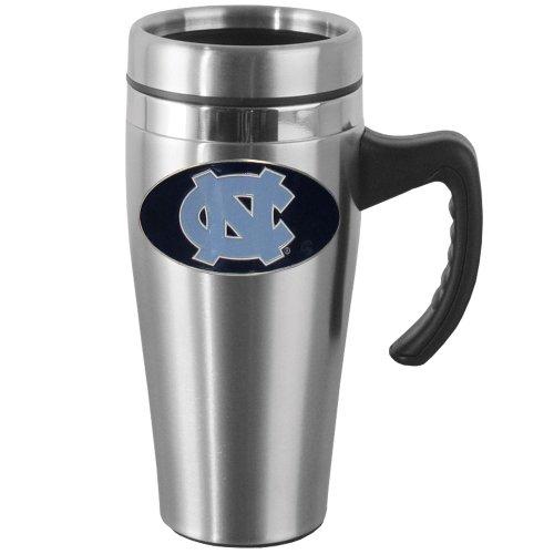 NCAA North Carolina Tar Heels Steel Travel Mug with Handle