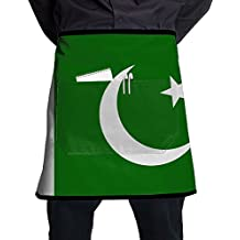 Pakistan Honorable Flag Adult Adjustable Apron With Pockets Modern Full Print Fashion Design-suitable For Barista Apron,cooking Apron,grilling Apron And Kitchen