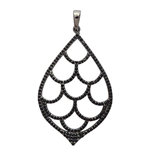 gner Black Spinel Gemstone 925 Sterling Silver Pendant ()
