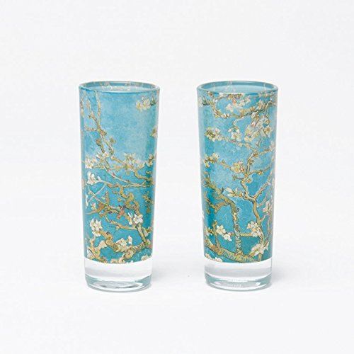 Van Gogh Shot Glasses Almond Blossom Design - 2 pack ()