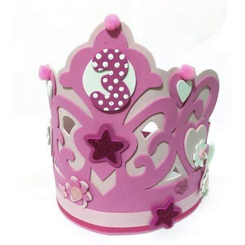 CORONA DE CUMPLEAÑOS DE GOMA EVA para niña: Amazon.es: Handmade