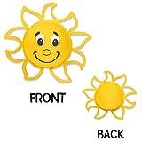 Tenna Tops Happy Sun Sunshine Car Antenna Topper Mirror Dangler