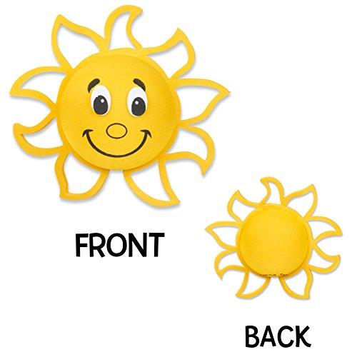 Tenna Tops Happy Sun Sunshine Car Antenna Topper / Mirror Dangler