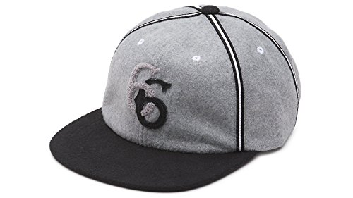 Vans Shoes Off The Wall Men's Hawthorne Vintage Retro Strapback Hat Cap - Grey/Black from Vans
