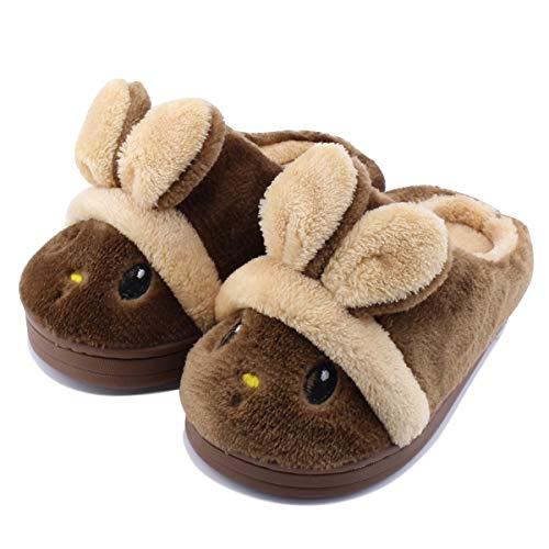 Kid Slippers Cute Rabbit Girls Boys Winter Warm Comfort Home -