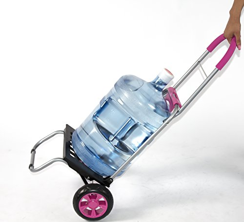 Mighty Max Personal Dolly, Pink Handtruck Hardware Garden Utilty Cart by dbest products (Image #3)