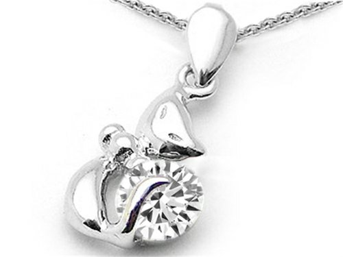 Star K Sterling Silver Round 6mm Cat Pendant Necklace