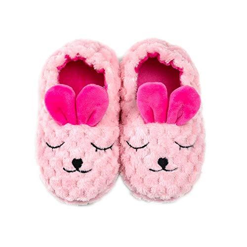 Enteer Toddler Girls' Premium Soft Plush Bunny Slippers US 5-6 (Slippers For Little Girls)