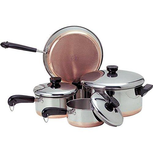 Ekco 1042262 Copper Clad 7-pc Cookware Set