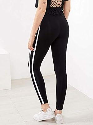 Super explosion Women's Active Drawstring Waist Striped Side Jogger Sweatpants Lounge Trousers