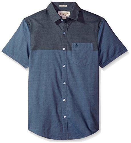 original-penguin-mens-short-sleeve-engineered-colorblock-shirt-with-spade-pocket-dark-denim-large