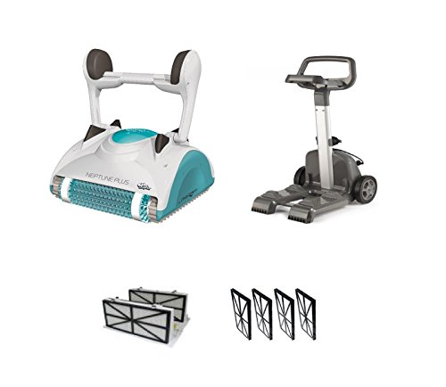 Price comparison product image Maytronics Dolphin Neptune Plus Robotic Pool Cleaner and Caddy 2 Yr Warranty NEW