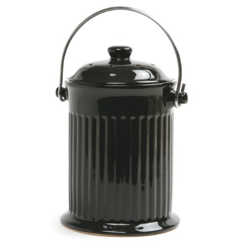 Norpro Ceramic Compost Keeper Black